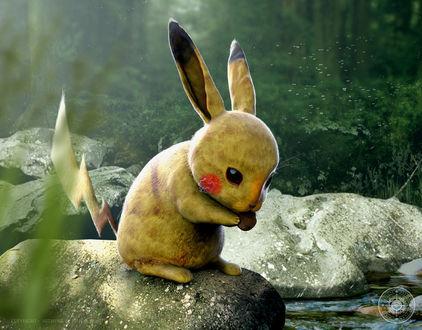 Обои Pikachu / Пикачу из аниме и игры Pokemon / Покемон, by JoshuaDunlop
