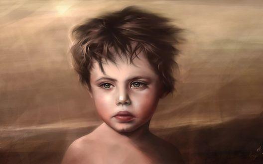 Обои Нарисованный портрет мальчика