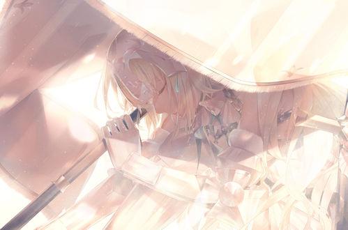 Обои Jeanne dArc / Жанна дАрк / Jeanne Alter / Альтер-Жанна из игры Fate / Grand Order, by 爽々