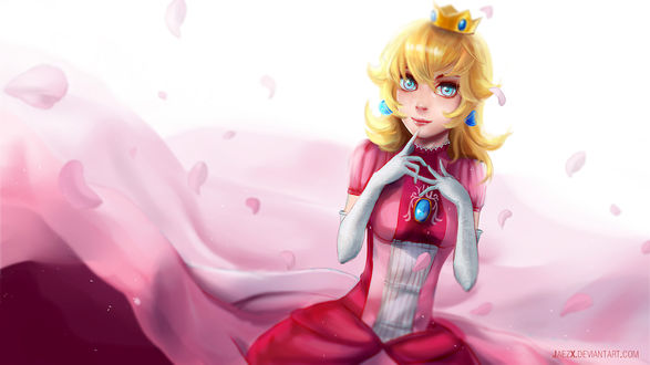 Обои Princess Peach / Принцесса Пич из игры Mario / Марио, by JaezX