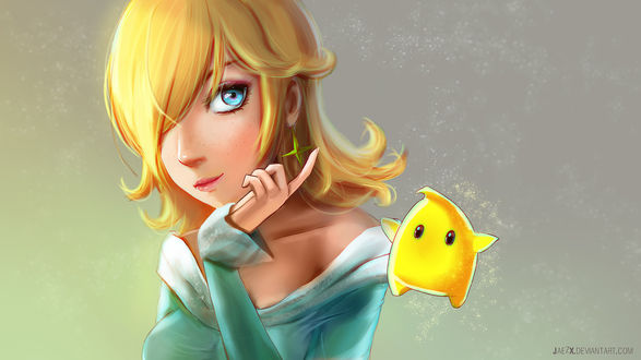 Обои Принцесса Rosalina / Розалина из игры Super Mario Galaxy, by JaezX