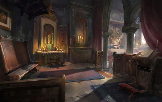 Обои Старая церковь, автор robin lhebrard