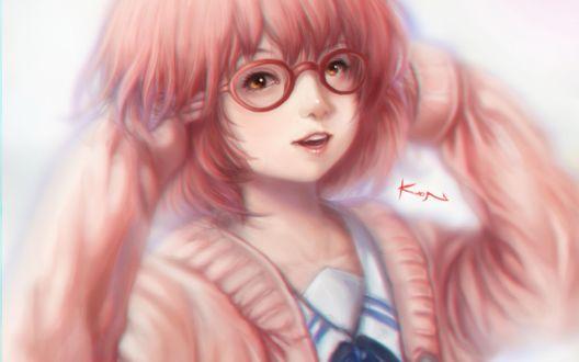 Обои Мирай Курияма / Mirai Kuriyama из аниме Kyoukai no Kanata / За гранью, by Kuon