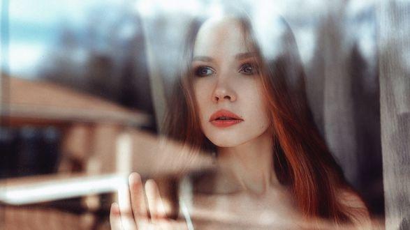 Обои Модель Таня у окна, by Георгий Чернядьев