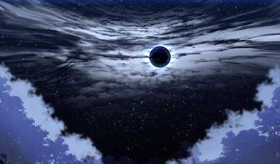 Обои Лунное затмение, by saya