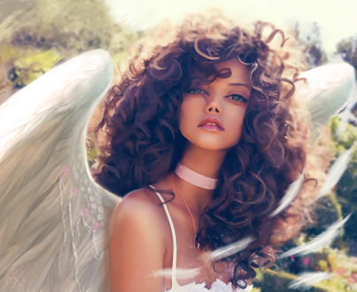 Обои Девушка в образе ангела, by XDaiaX
