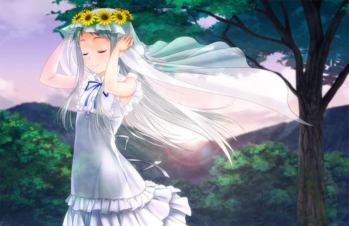 Обои Мэйко Хомма / Meiko Honma из аниме Невиданный цветок / Ano Hi Mita Hana no Namae wo Bokutachi wa Mada Shiranai