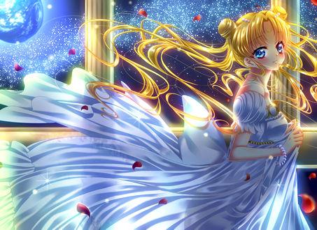 Обои Princess Serenity / Принцесса Серенити / Usagi Tsukino / Усаги Цукино из аниме Сейлор Мун / Sailor Moon