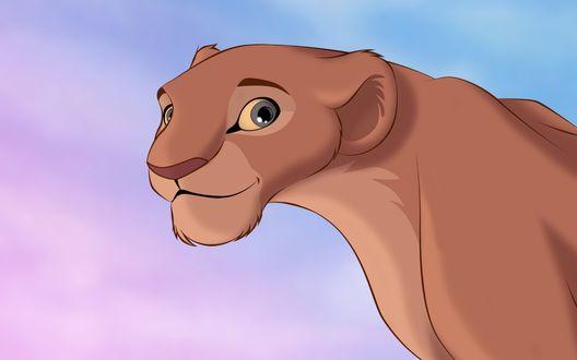Обои Львица Нала / Nala из мультфильма Король лев / The Lion King