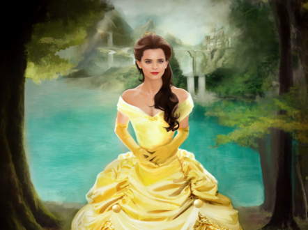 Обои Emma Watson / Эмма Уотсон в роли Belle / Белль из фильма Beauty and the Beast / Красавица и Чудовище, by XDaiaX