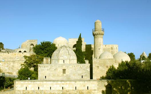 Обои Старинный дворец Ширваншахов, город Баку