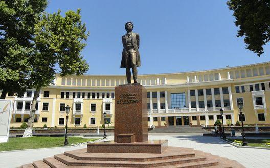 Обои Памятник Пушкину, город Ташкент