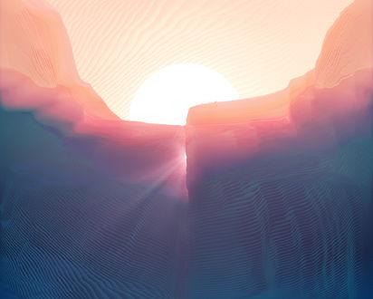 Обои Восход над горами