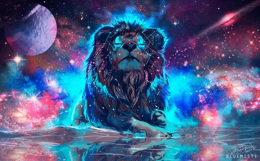 Обои Космический лев, by Bluemisti
