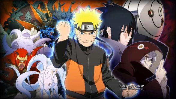 Обои Наруто Узумаки / Naruto Uzumaki, Саске Учиха / Sasuke Uchih и др. из аниме Наруто / Naruto