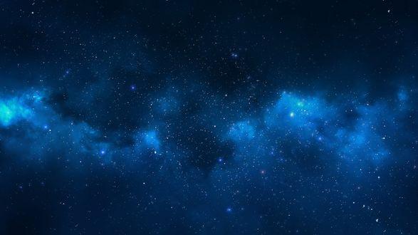 Обои Синее звездное небо