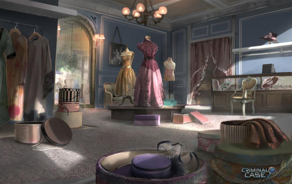 Обои для рабочего стола Магазин женской одежды, автор robin lhebrard