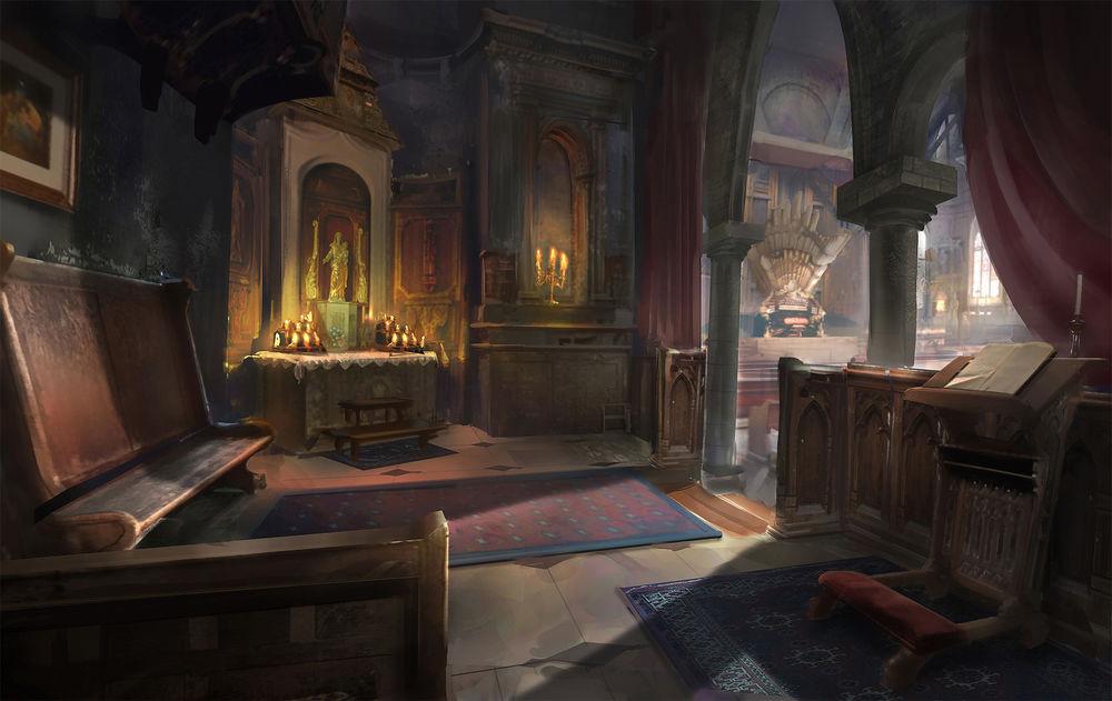 Обои для рабочего стола Старая церковь, автор robin lhebrard