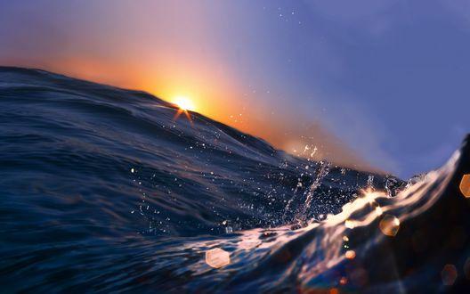 Обои Морская волна крупным планом