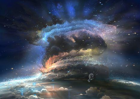 Обои Фантастический вид вселенной, by aerroscape