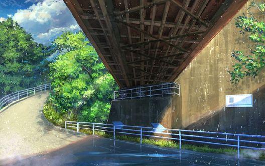 Обои Дорога, проходящая под мостом