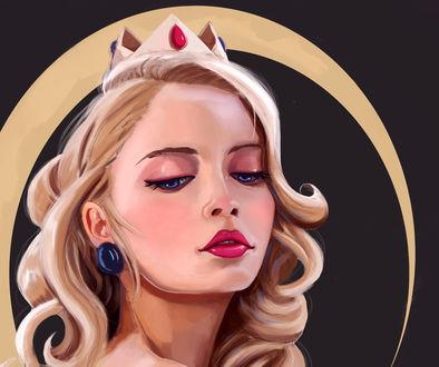 Обои Принцесса Пич / Peach / Персик из серии игр Марио / Mario, by JJ-Winter