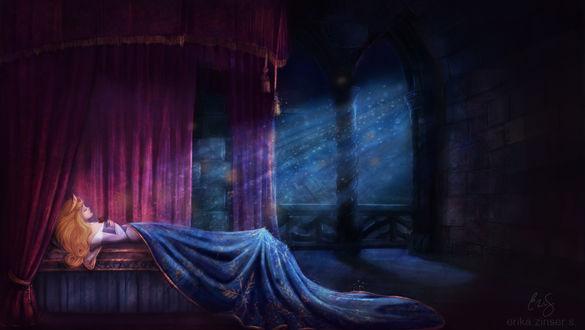 Обои Спящая красавица, by glimpen