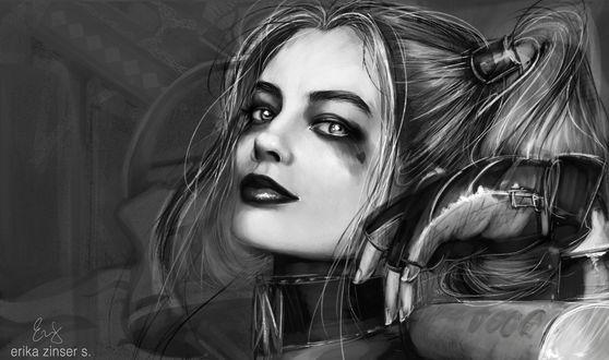 Обои Harley Quinn / Харли Куинн, by glimpen