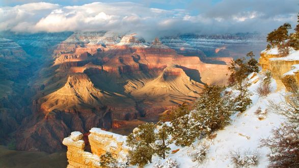 Обои Гранд-Каньон- национальный парк в США