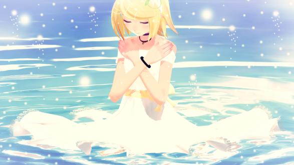 Обои Vocaloid Kagamine Rin / Вокалоид Кагамине Рин, by ShinichiLen