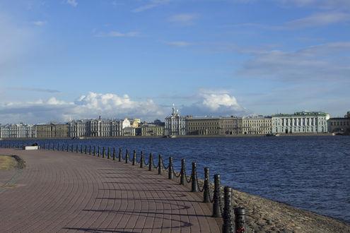 Обои Набережная Невы, Заячий остров, Санкт-Петербург