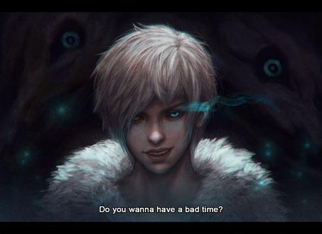 Обои Sans / Санс из игры Undertale (Do you wanna have a bad time? / Ты хочешь пережить тяжелое время?), by serafleur
