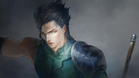 Обои Lancer / Лансер из аниме Fate / Zero / Судьба / Начало, art Janemere
