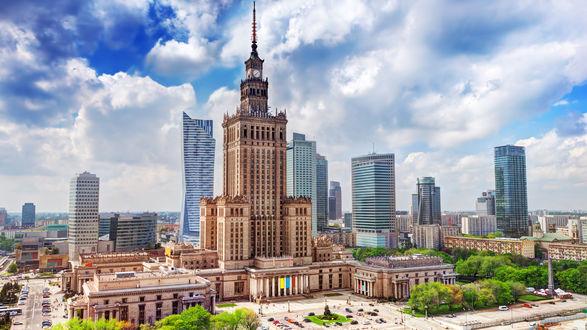 Обои Дворец культуры и науки, Польша, Варшава