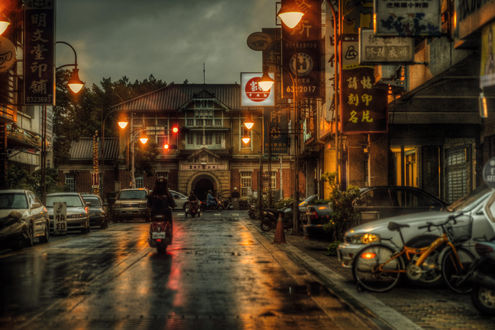 Обои Вечер в уезде Юньлинь, Тайвань, КНР