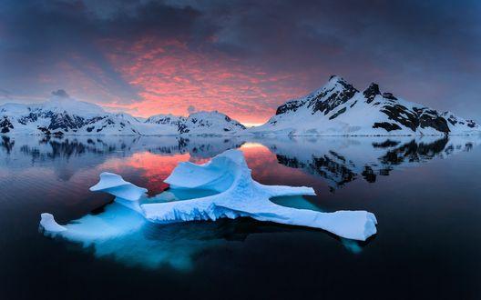 Обои Ледники под вечерним небом