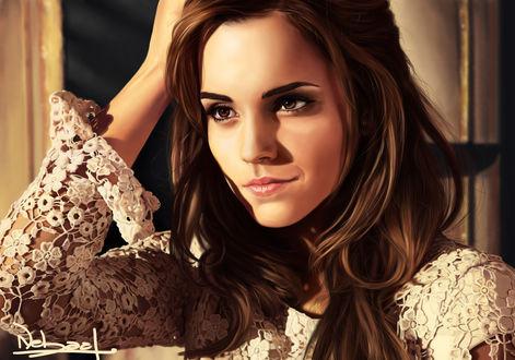 Обои Британская актриса и фотомодель Эмма Уотсон / Emma Watson, by Krazmuth