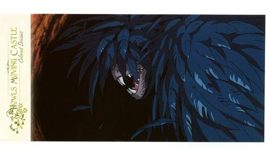 Обои Демон Howl / Хаул из аниме Howl no Ugoku Shiro / Ходячий замок Хаула, art by Hayao Miyazaki