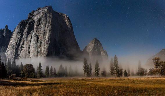 Обои Гора Эль-Капитан в национальном парке Йосемити, штат Калифорния, США
