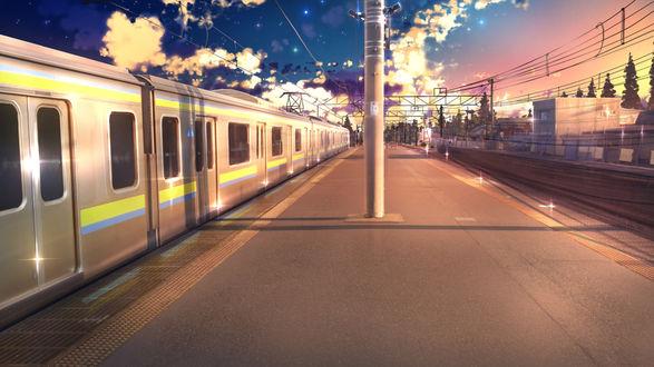 Обои Поезд прибыл на станцию, by anonamos