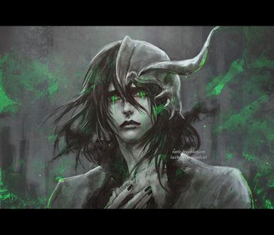 Обои Улькиорра Шиффер / Ulquiorra Shiffer из аниме Блич / Bleach, by NanFe