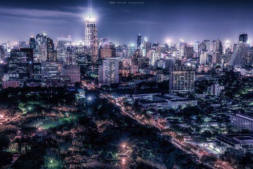 Обои Сияющий Bangkok / Бангкок, фотограф Manjik photography