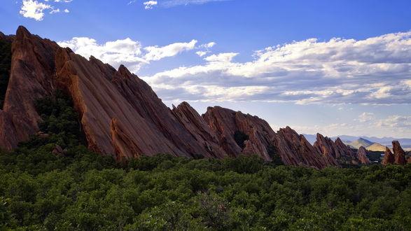 Обои Горные массивы в Денвере, штат Колорадо, США / Denver, Colorado, USA