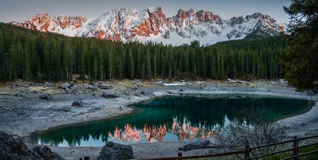 Обои Закат на озере Карецца, фотограф Aleksandr Roma