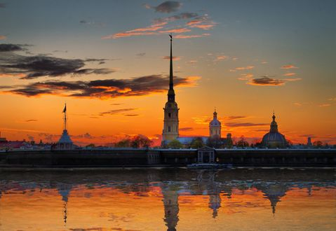Обои Набережная Невы, Петропавловская крепость, Санкт-Петербург