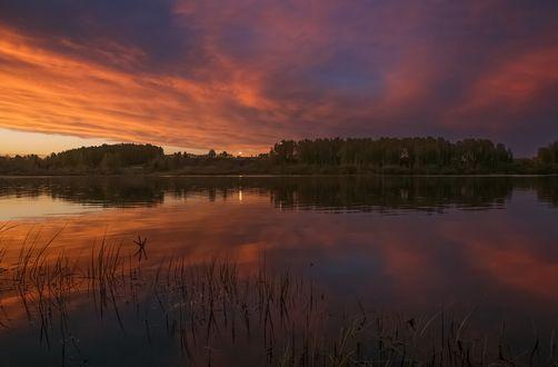 Обои Вечер на озере, фотограф Анатолич