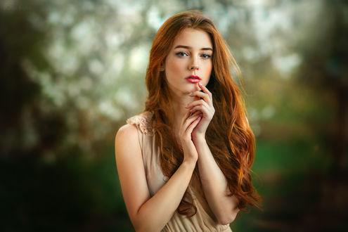 Обои Милая девушка Александра, фотограф Ольга Бойко