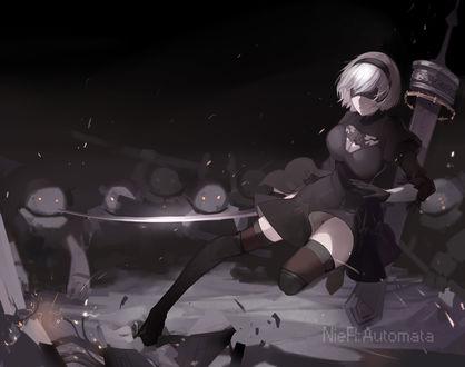 Обои YoRHa №2 тип B из игры NieR: Automata, автор Broken