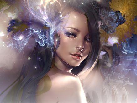 Обои Девушка с томными глазами, by Kyrie0201
