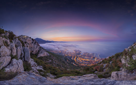 Обои Рассвет над Монако